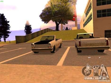 New Perennial para GTA San Andreas esquerda vista