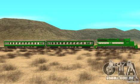 THE GO Transit Train para GTA San Andreas esquerda vista