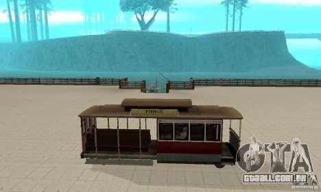 Tram para GTA San Andreas traseira esquerda vista