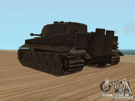Pzkpfw VI Tiger para GTA San Andreas esquerda vista