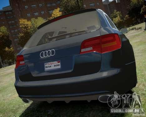Audi A6 Avant Stanced para GTA 4 vista direita