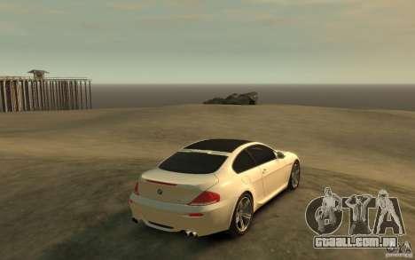 BMW M6 2010 v1.4 para GTA 4 vista direita