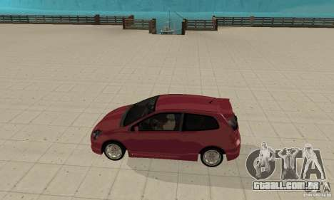 Honda Civic Type R - Stock + Airbags para GTA San Andreas traseira esquerda vista