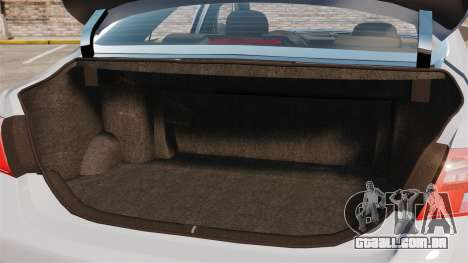 Toyota Camry Altise 2009 para GTA 4 vista lateral