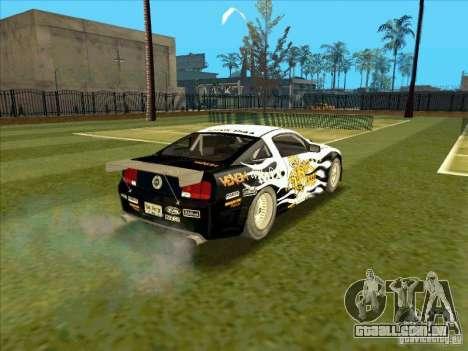 Ford Mustang Drag King from NFS Pro Street para GTA San Andreas traseira esquerda vista