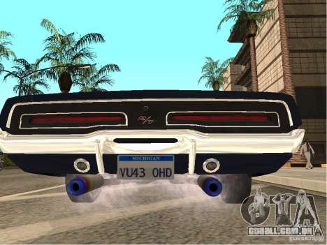 Dodge Charger RT Light Tuning para GTA San Andreas traseira esquerda vista