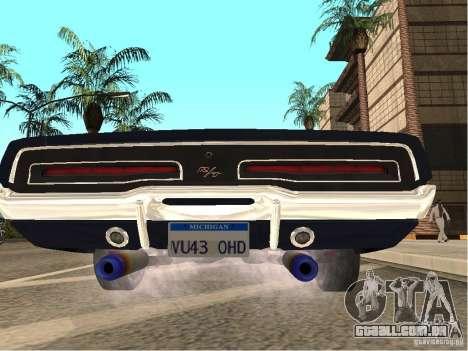 Dodge Charger RT Light Tuning para GTA San Andreas traseira esquerda vista
