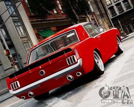 Ford Mustang GT MkI 1965 para GTA 4 vista direita