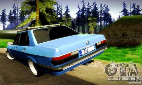 BMW E28 525e RatStyle No1 para GTA San Andreas vista superior