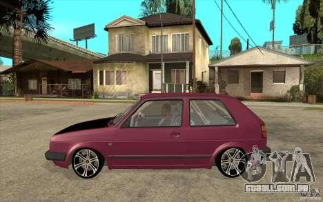 VW Golf 2 GTI para GTA San Andreas esquerda vista