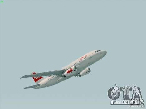 Airbus A319-112 Swiss International Air Lines para GTA San Andreas esquerda vista