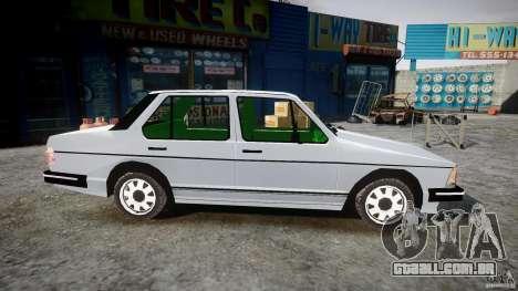 Volkswagen Jetta 1981 para GTA 4 vista de volta