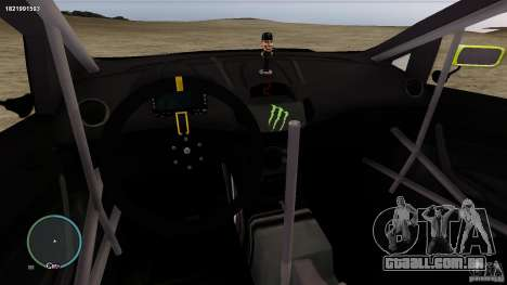Ken Block Ford Fiesta 2011 para GTA 4 vista interior