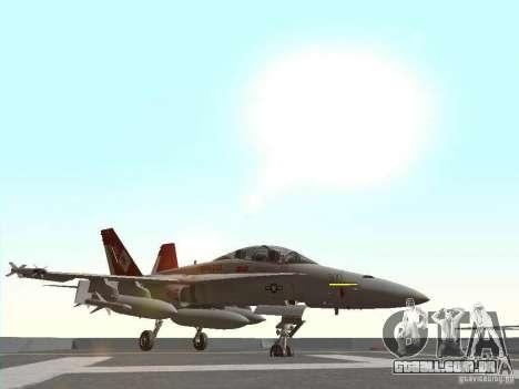 FA-18D Hornet para GTA San Andreas esquerda vista