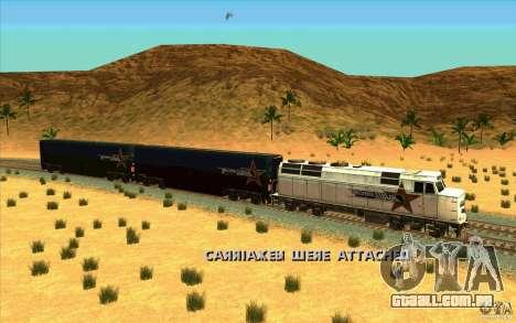 Desenganchados de vagões para GTA San Andreas por diante tela