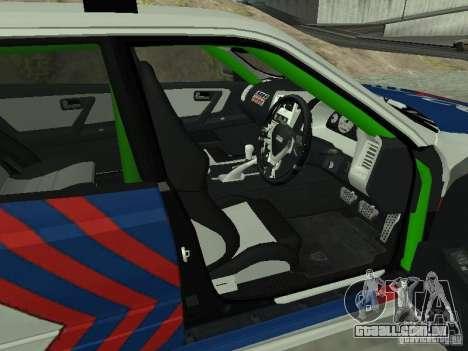 Nissan Skyline Indonesia Police para GTA San Andreas traseira esquerda vista
