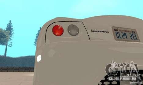 Panoz Esperante GTLM 2005 para GTA San Andreas vista interior