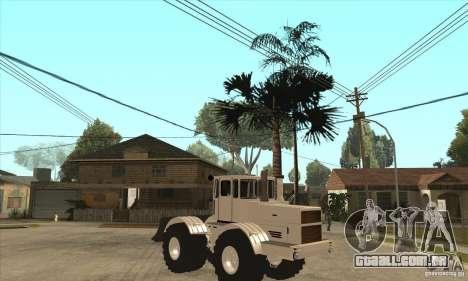 Caminhão do trator de Kirov K701 para GTA San Andreas vista traseira