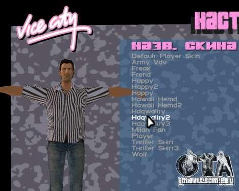 Pele de Tommy para GTA Vice City quinto tela
