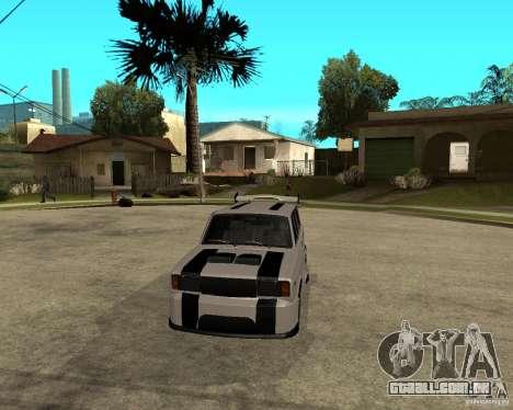 VAZ 2104 difícil afinação para GTA San Andreas vista traseira