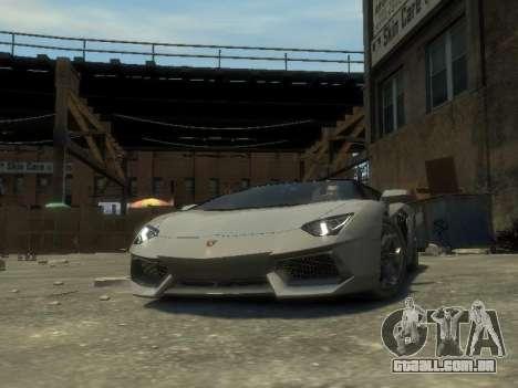 Lamborghini Aventador LP700-4 EPM para GTA 4 vista de volta