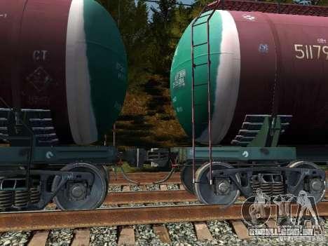 Vagão tanque n. º 51179257 para GTA San Andreas traseira esquerda vista