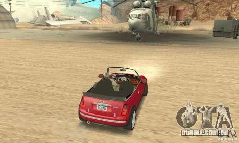 Mini Cooper Convertible para GTA San Andreas esquerda vista