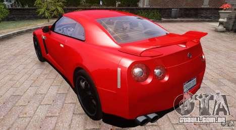 Nissan GTR R35 v1.0 para GTA 4 vista de volta