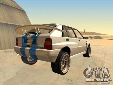 Lancia Integrale Evo para GTA San Andreas vista direita