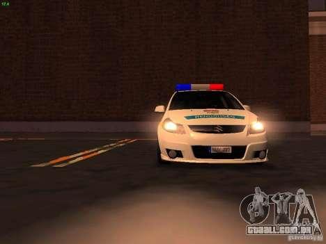 Suzuki SX-4 Hungary Police para o motor de GTA San Andreas