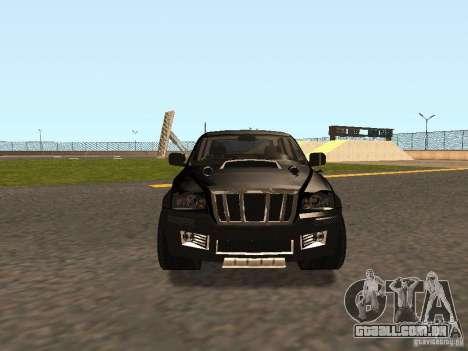 Jeep Grand Cherokee Black para GTA San Andreas esquerda vista