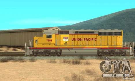 Locomotiva SD 40 Union Pacific para GTA San Andreas traseira esquerda vista