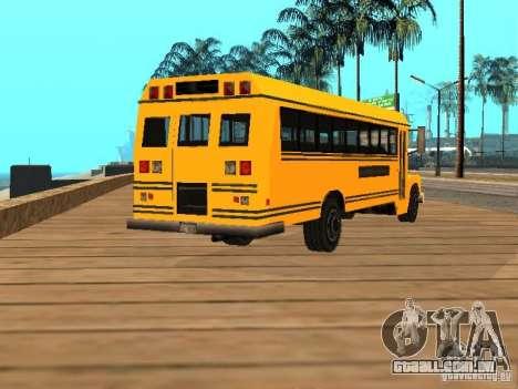 School bus para GTA San Andreas traseira esquerda vista