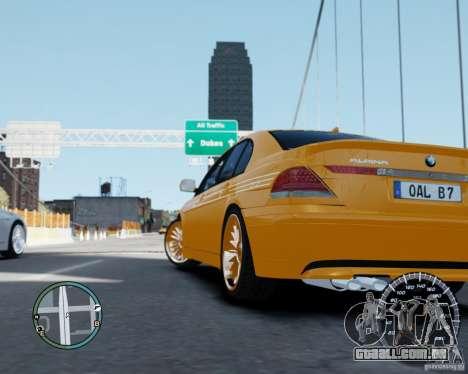 BMW Alpina B7 para GTA 4 esquerda vista