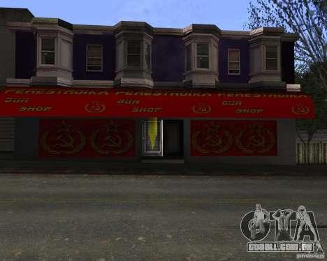 Armazena a reestruturação para GTA San Andreas terceira tela