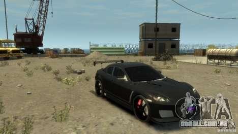 MAZDA RX8 para GTA 4 traseira esquerda vista