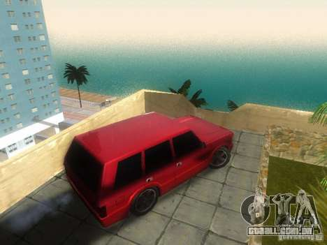 New Huntley para GTA San Andreas traseira esquerda vista