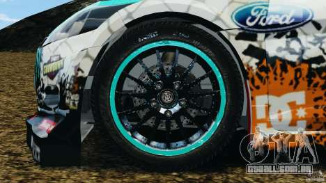 Ford Fiesta RS WRC Gymkhana v1.0 para GTA 4 vista de volta