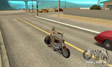 Harley Davidson FLSTF (Fat Boy) v2.0 Skin 2 para GTA San Andreas vista direita