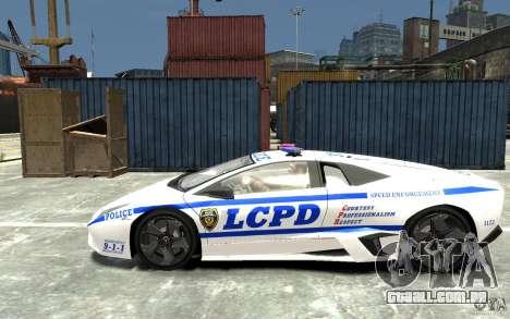 Lamborghini Reventon LCPD para GTA 4 esquerda vista