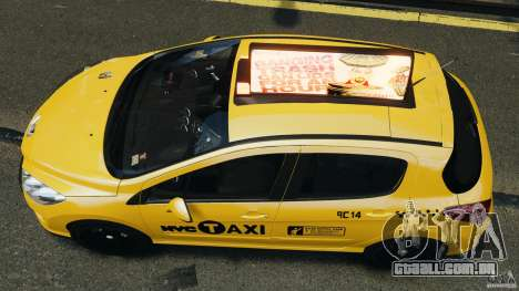 Peugeot 308 GTi 2011 Taxi v1.1 para GTA 4 vista direita