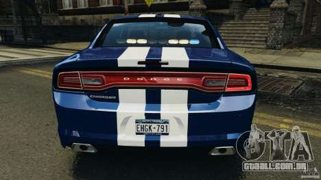 Dodge Charger Unmarked Police 2012 [ELS] para GTA 4 motor