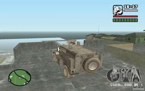 Caminhão militar para GTA San Andreas esquerda vista