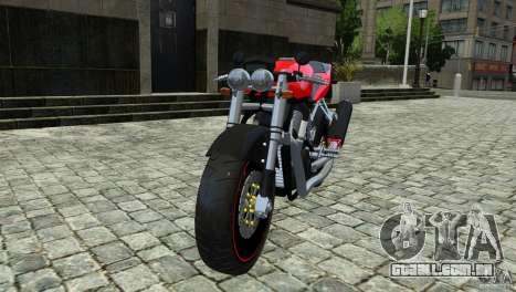 Suzuki Street Fighter Custom para GTA 4 traseira esquerda vista