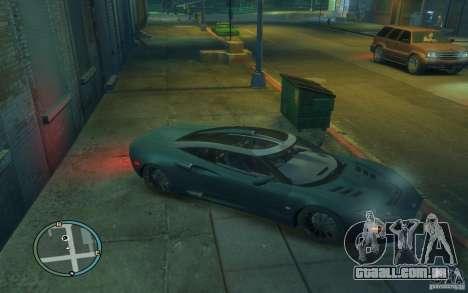 Spyker C8 Aileron para GTA 4 vista interior