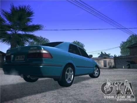 Mazda 626 GF 1999 para GTA San Andreas vista traseira