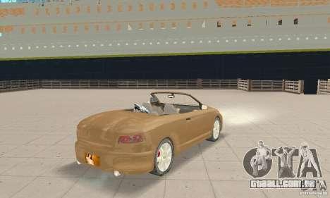 Chrysler Cabrio para GTA San Andreas esquerda vista