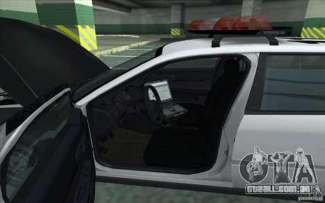 Chevrolet Impala 2003 SFPD para GTA San Andreas traseira esquerda vista