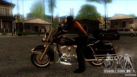 Harley Davidson para GTA San Andreas esquerda vista