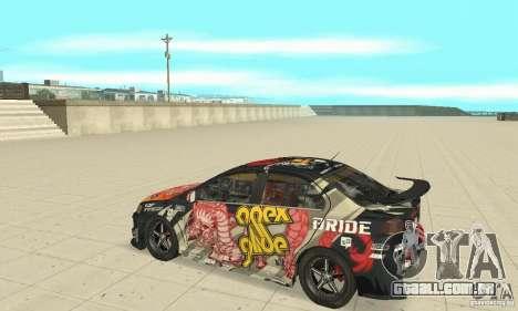 Mitsubishi Lancer EVO Ryo para GTA San Andreas esquerda vista